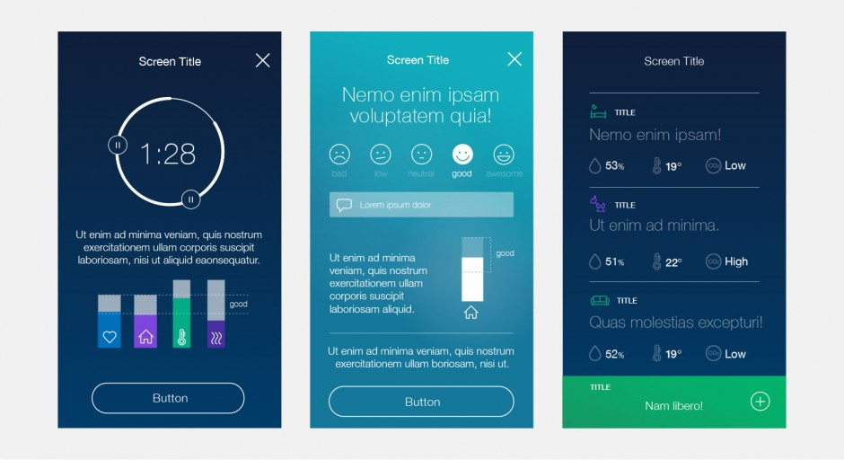 concept and ui for a smart home device app prototype frauke